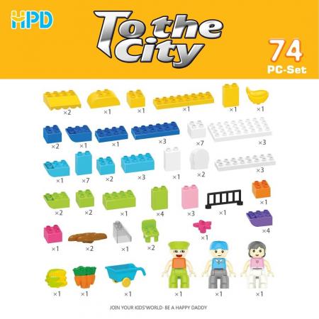 Set 74 piese de construit pentru Orasul Magic2