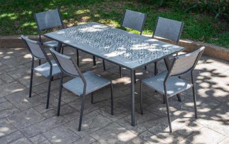 Set masă grădină și scaune 7 piese Rimini [0]