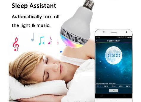 Bec Inteligent Multicolor cu difuzor si Smartphone Control prin Bluetooth 4