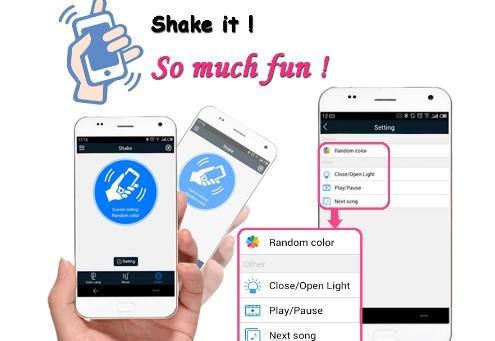 Bec Inteligent Multicolor cu difuzor si Smartphone Control prin Bluetooth 3