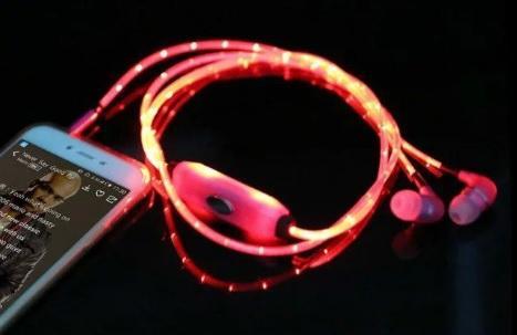 Casti Audio cu Cablu cu LED 1