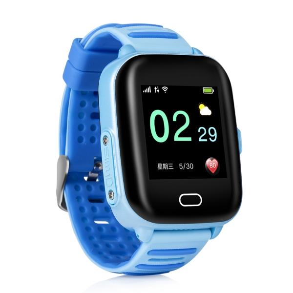 Ceas Inteligent cu GPS pentru copii WONLEX KT02 3G Albastru, rezistent la apa, localizare WiFI si monitorizare spion 1
