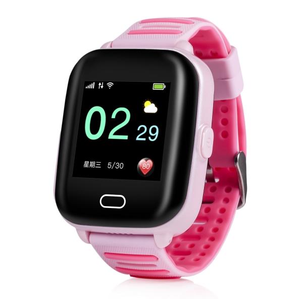 Ceas Inteligent cu GPS pentru copii WONLEX KT02 3G Roz, rezistent la apa, localizare WiFI si monitorizare spion 0