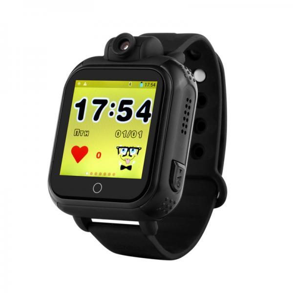 Ceas inteligent pentru copii WONLEX GW1000 3G Negru (Digi) cu GPS, telefon,localizare WiFI si monitorizare spion 0
