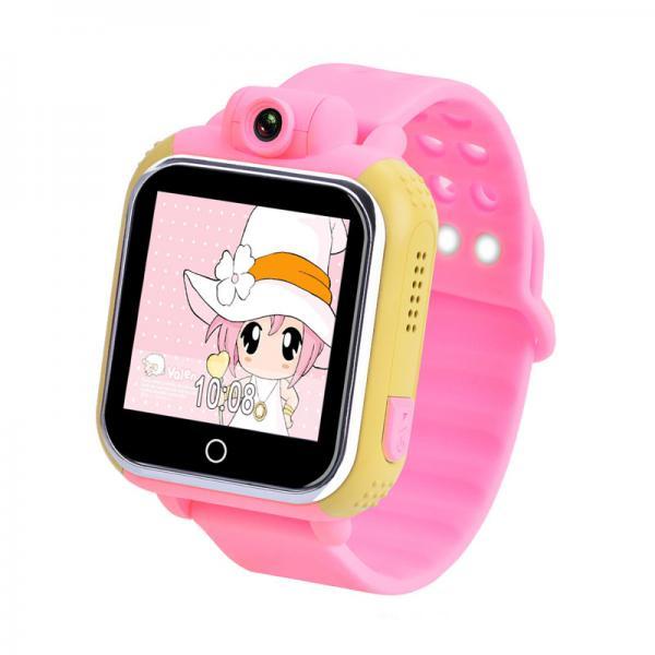 Ceas inteligent pentru copii WONLEX GW1000 3G Roz (Digi) cu GPS, telefon, localizare Wifi si monitorizare spion 5