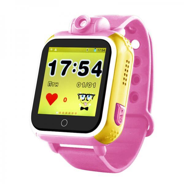 Ceas inteligent pentru copii WONLEX GW1000 3G Roz (Digi) cu GPS, telefon, localizare Wifi si monitorizare spion 4