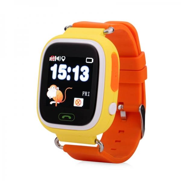 Ceas inteligent pentru copii WONLEX GW100 Portocaliu cu GPS, telefon, localizare WiFi si monitorizare spion 0
