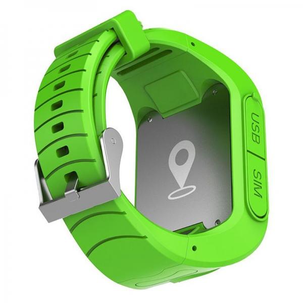 Ceas inteligent pentru copii GW300 Verde cu telefon, localizare GPS&WiFi si monitorizare spion 2