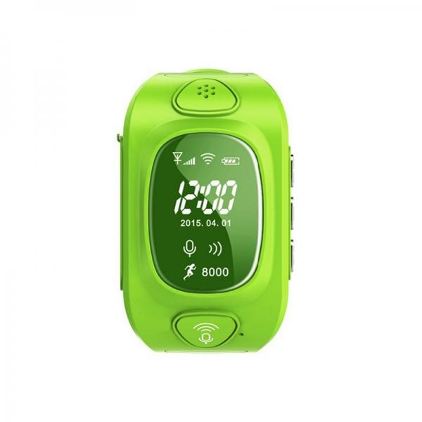 Ceas inteligent pentru copii GW300 Verde cu telefon, localizare GPS&WiFi si monitorizare spion 0