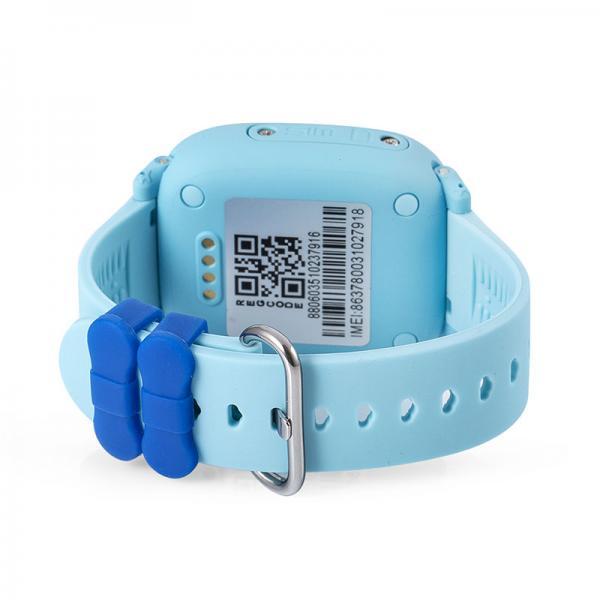 Ceas inteligent pentru copii WONLEX GW400S Albastru cu GPS, rezistent la apa, localizare WiFI si monitorizare spion 1