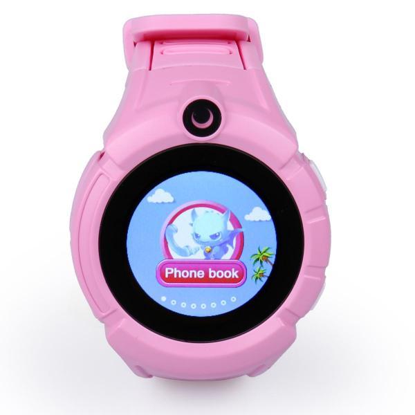Ceas inteligent pentru copii WONLEX GW600 Roz cu GPS, telefon, localizare WiFi, ecran touchscreen color, monitorizare spion 1