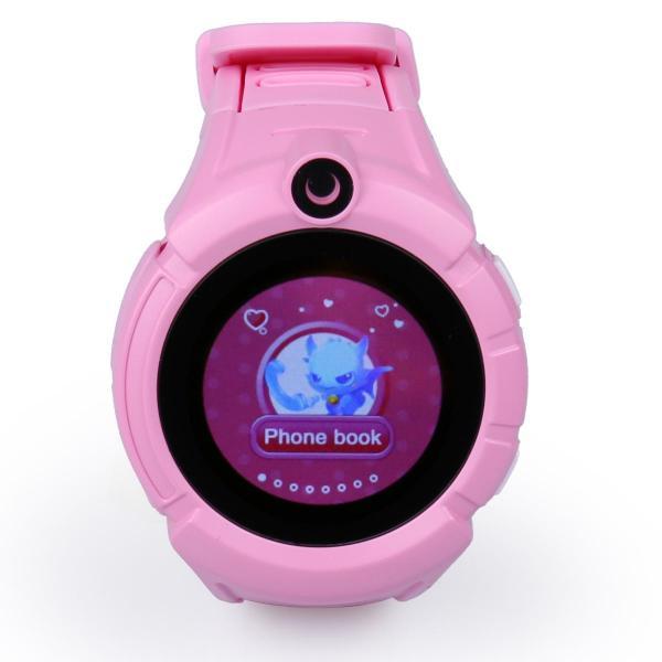 Ceas inteligent pentru copii WONLEX GW600 Roz cu GPS, telefon, localizare WiFi, ecran touchscreen color, monitorizare spion 2