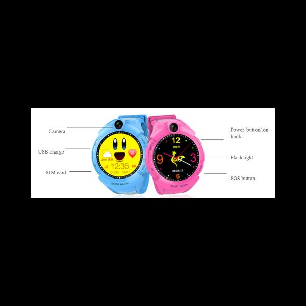 Ceas inteligent pentru copii WONLEX GW600 Roz cu GPS, telefon, localizare WiFi, ecran touchscreen color, monitorizare spion 8