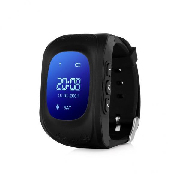 Ceas inteligent pentru copii WONLEX Q50 Negru cu GPS, telefon, si monitorizare spion 0