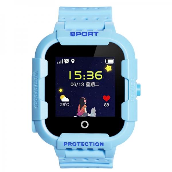 Ceas Inteligent cu GPS pentru copii WONLEX KT03 Albastru, rezistent la apa, localizare WiFI si monitorizare spion 0
