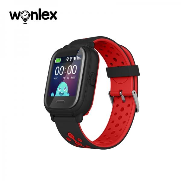 Ceas Inteligent cu GPS pentru copii WONLEX KT04 Negru, rezistent la apa, localizare WiFI si monitorizare spion [1]