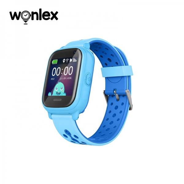 Ceas Inteligent cu GPS pentru copii WONLEX KT04 Albastru, rezistent la apa, localizare WiFI si monitorizare spion 1