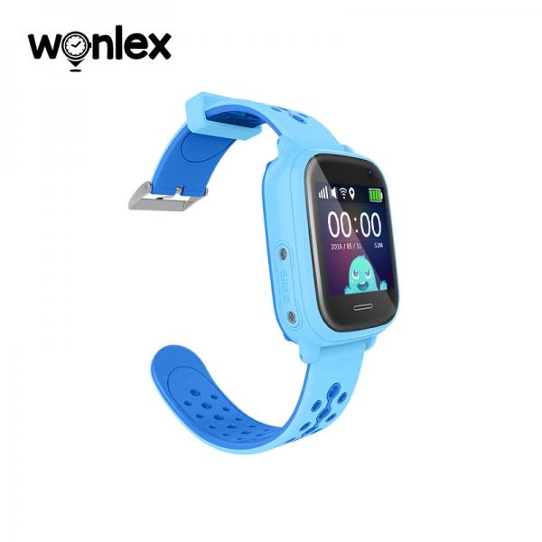 Ceas Inteligent cu GPS pentru copii WONLEX KT04 Albastru, rezistent la apa, localizare WiFI si monitorizare spion 0