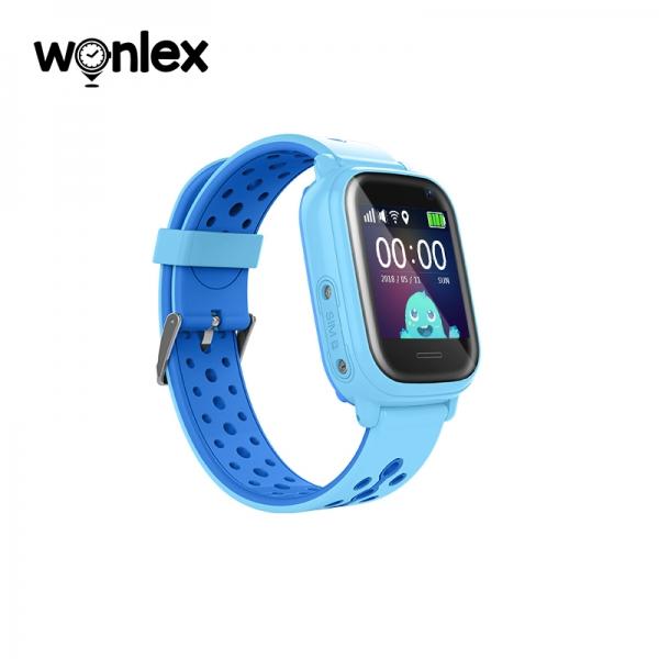 Ceas Inteligent cu GPS pentru copii WONLEX KT04 Albastru, rezistent la apa, localizare WiFI si monitorizare spion 3