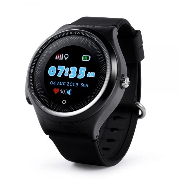Ceas Inteligent cu GPS pentru copii WONLEX KT06 Negru, rezistent la apa, localizare WiFI si monitorizare spion [0]