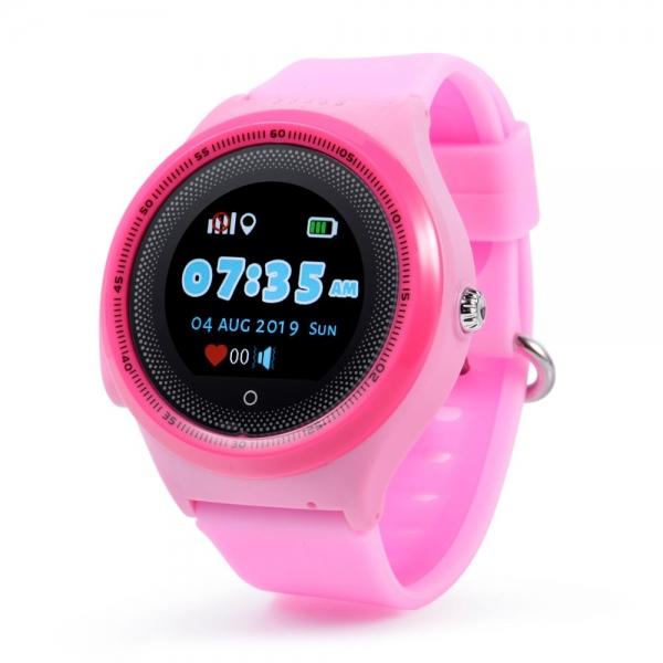 Ceas Inteligent cu GPS pentru copii WONLEX KT06 Roz, rezistent la apa, localizare WiFI si monitorizare spion 0