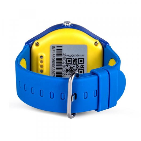 Ceas Inteligent cu GPS pentru copii WONLEX KT06 Albastru, rezistent la apa, localizare WiFI si monitorizare spion 1