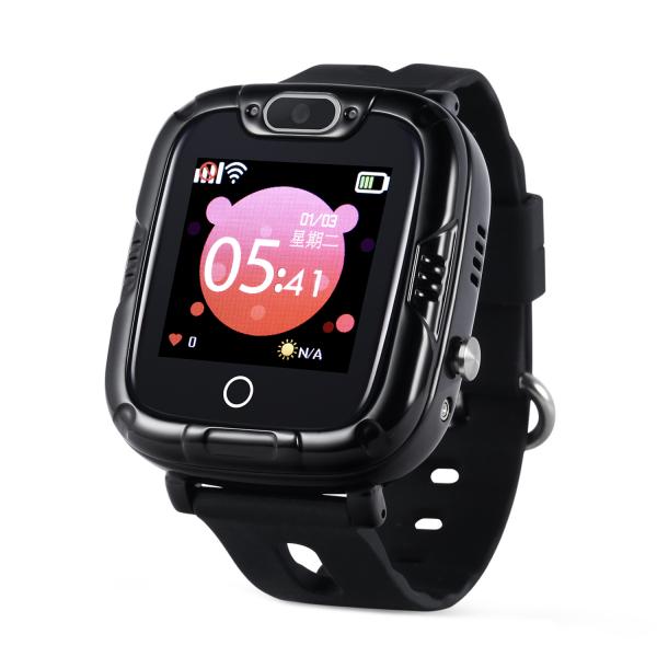 Ceas Inteligent cu GPS pentru copii WONLEX KT07S Negru, rezistent la apa, localizare WiFI si monitorizare spion 0