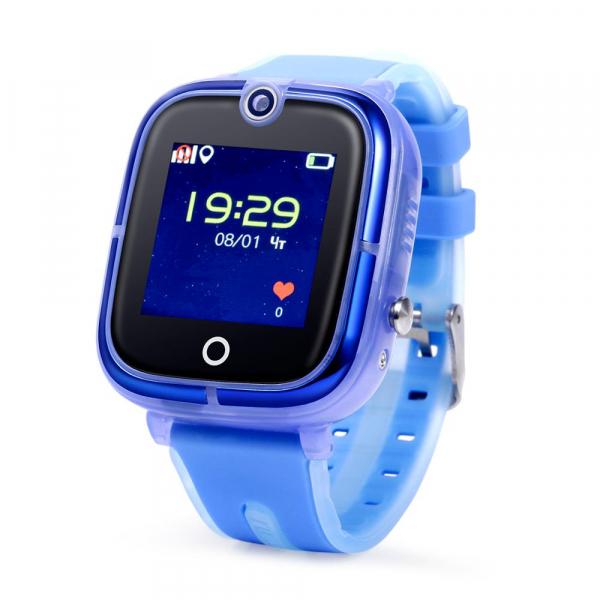 Ceas Inteligent cu GPS pentru copii WONLEX KT07 Albastru, rezistent la apa, localizare WiFI si monitorizare spion 0