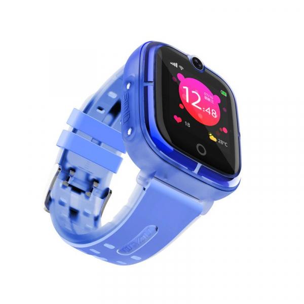 Ceas Inteligent cu GPS pentru copii WONLEX KT07 Albastru, rezistent la apa, localizare WiFI si monitorizare spion 1