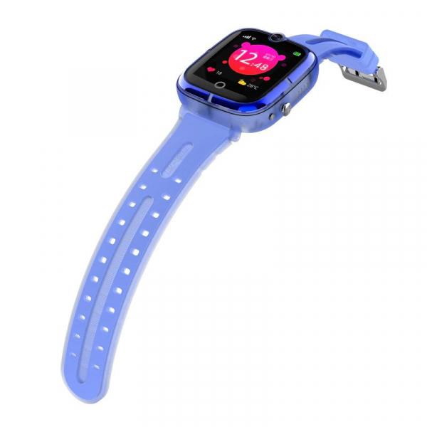 Ceas Inteligent cu GPS pentru copii WONLEX KT07 Albastru, rezistent la apa, localizare WiFI si monitorizare spion 2
