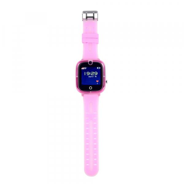Ceas Inteligent cu GPS pentru copii WONLEX KT07 Roz, rezistent la apa, localizare WiFI si monitorizare spion [1]