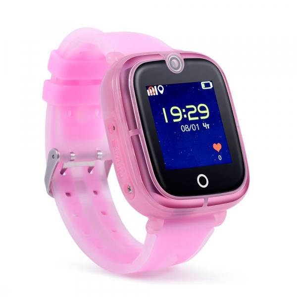 Ceas Inteligent cu GPS pentru copii WONLEX KT07 Roz, rezistent la apa, localizare WiFI si monitorizare spion [3]
