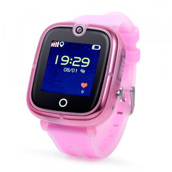 Ceas Inteligent cu GPS pentru copii WONLEX KT07 Roz, rezistent la apa, localizare WiFI si monitorizare spion [2]