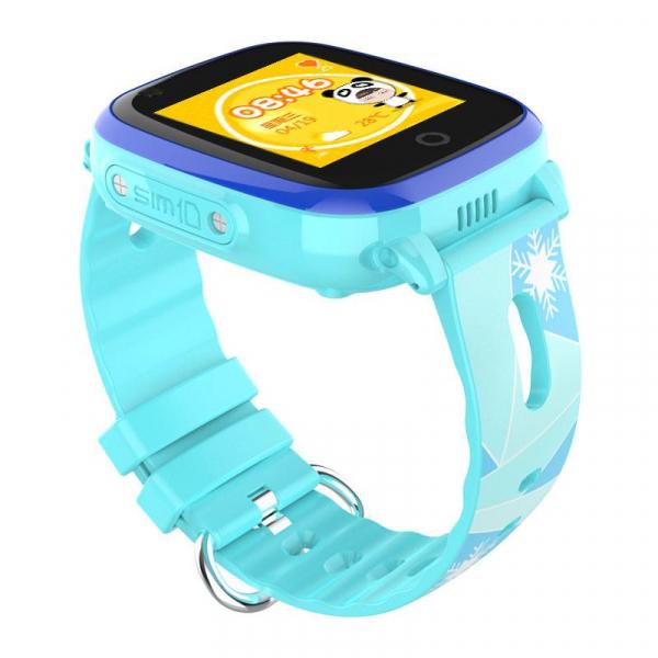 Ceas Inteligent cu GPS pentru copii WONLEX KT10 4G Albastru, apelare video, rezistent la apa, localizare WiFI si monitorizare spion 1