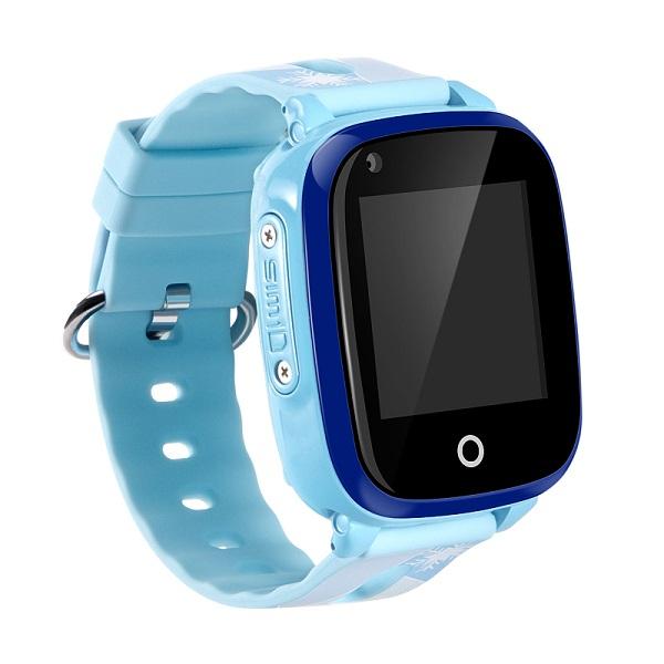 Ceas Inteligent cu GPS pentru copii WONLEX KT10 4G Albastru, apelare video, rezistent la apa, localizare WiFI si monitorizare spion 4