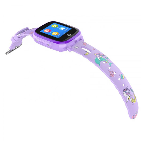 Ceas Inteligent cu GPS pentru copii WONLEX KT10 4G Albastru, apelare video, rezistent la apa, localizare WiFI si monitorizare spion 0