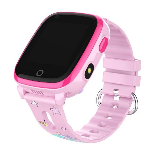Ceas Inteligent cu GPS pentru copii WONLEX KT10 4G Roz, apelare video, rezistent la apa, localizare WiFI si monitorizare spion [1]