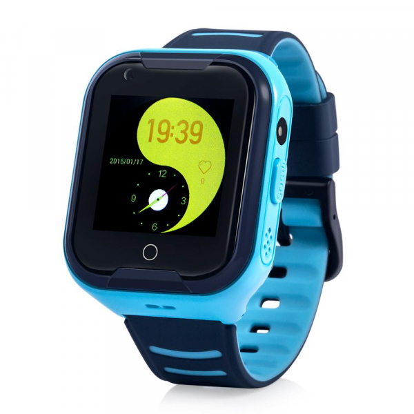 Ceas Inteligent cu GPS pentru copii WONLEX KT11 4G Albastru, apelare video, rezistent la apa, localizare WiFI si monitorizare spion 0