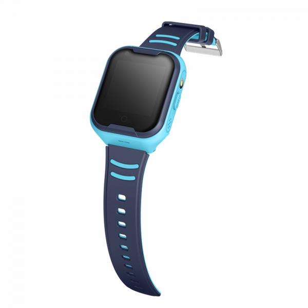 Ceas Inteligent cu GPS pentru copii WONLEX KT11 4G Albastru, apelare video, rezistent la apa, localizare WiFI si monitorizare spion 1