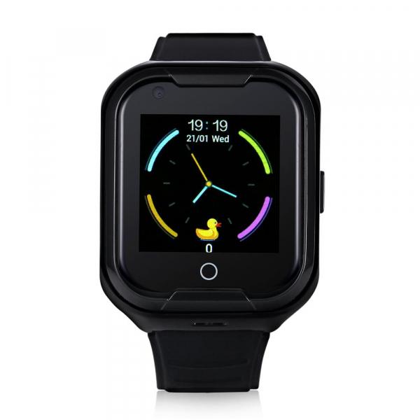 Ceas Inteligent cu GPS pentru copii WONLEX KT11 4G Negru, apelare video, rezistent la apa, localizare WiFI si monitorizare spion [1]