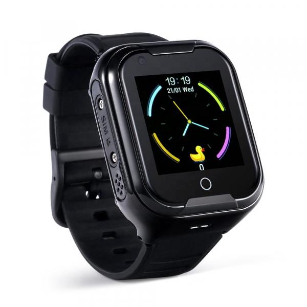 Ceas Inteligent cu GPS pentru copii WONLEX KT11 4G Negru, apelare video, rezistent la apa, localizare WiFI si monitorizare spion [2]