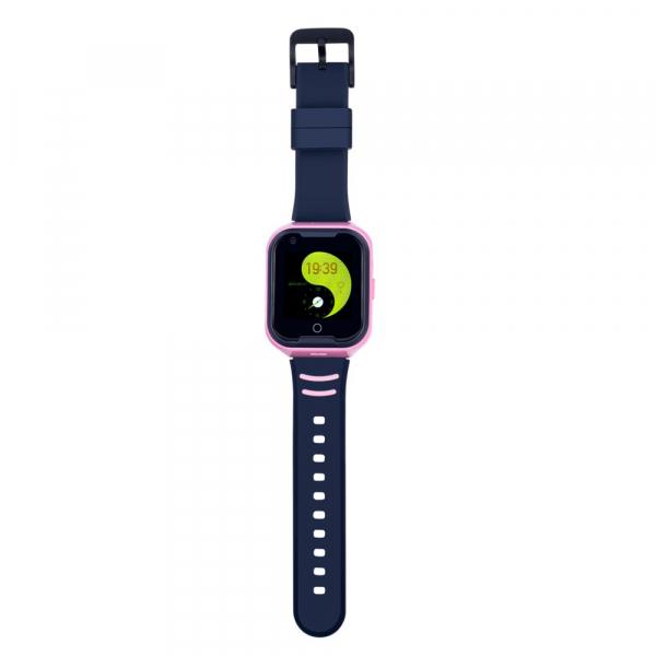 Ceas Inteligent cu GPS pentru copii WONLEX KT11 4G Roz, apelare video, rezistent la apa, localizare WiFI si monitorizare spion [4]