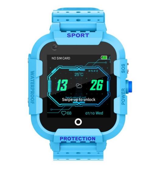 Ceas Inteligent cu GPS pentru copii WONLEX KT12 4G Albastru, apelare video, rezistent la apa, localizare WiFI si monitorizare spion [0]