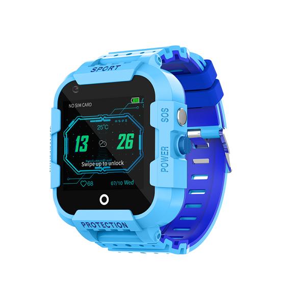 Ceas Inteligent cu GPS pentru copii WONLEX KT12 4G Albastru, apelare video, rezistent la apa, localizare WiFI si monitorizare spion [3]