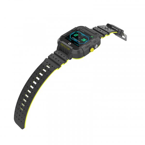 Ceas Inteligent cu GPS pentru copii WONLEX KT12 4G Negru, apelare video, rezistent la apa, localizare WiFI si monitorizare spion [3]
