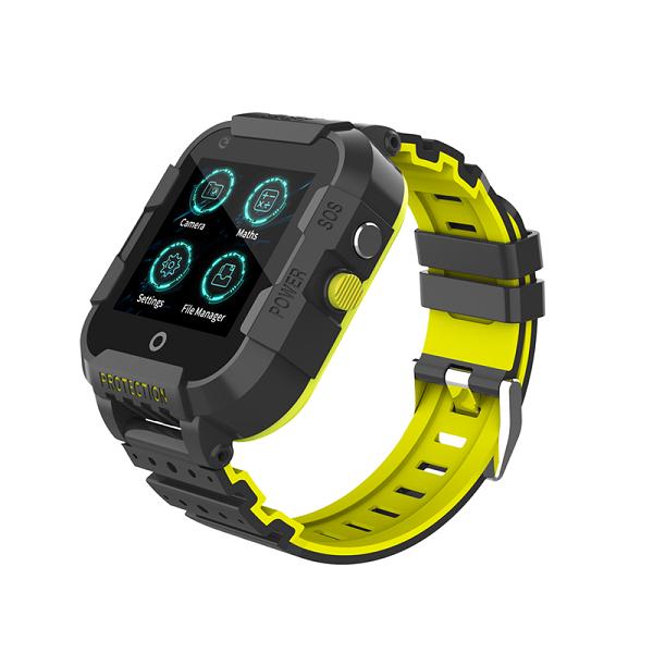 Ceas Inteligent cu GPS pentru copii WONLEX KT12 4G Negru, apelare video, rezistent la apa, localizare WiFI si monitorizare spion [1]