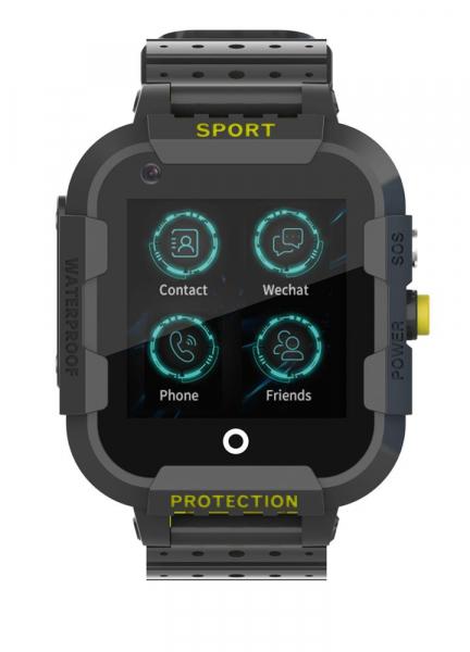 Ceas Inteligent cu GPS pentru copii WONLEX KT12 4G Negru, apelare video, rezistent la apa, localizare WiFI si monitorizare spion [2]