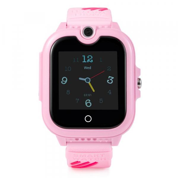 Ceas Inteligent cu GPS pentru copii WONLEX KT13 4G Roz, apelare video, rezistent la apa, localizare WiFI si monitorizare spion 0