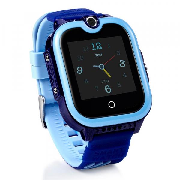 Ceas Inteligent cu GPS pentru copii WONLEX KT13 4G Albastru, apelare video, rezistent la apa, localizare WiFI si monitorizare spion 1