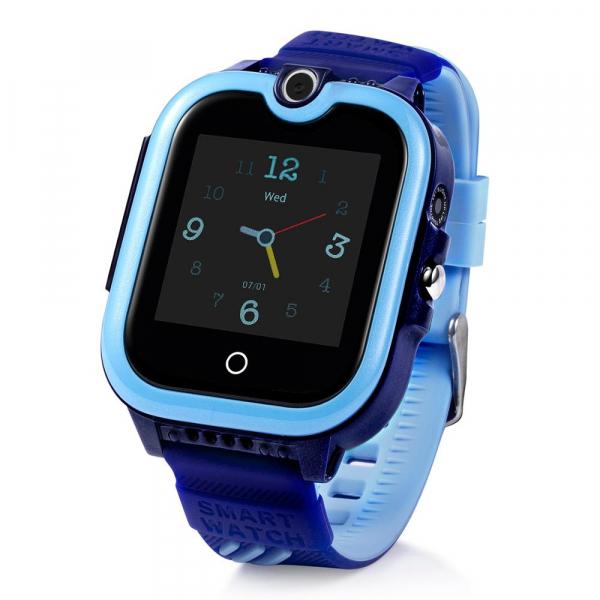 Ceas Inteligent cu GPS pentru copii WONLEX KT13 4G Albastru, apelare video, rezistent la apa, localizare WiFI si monitorizare spion 2